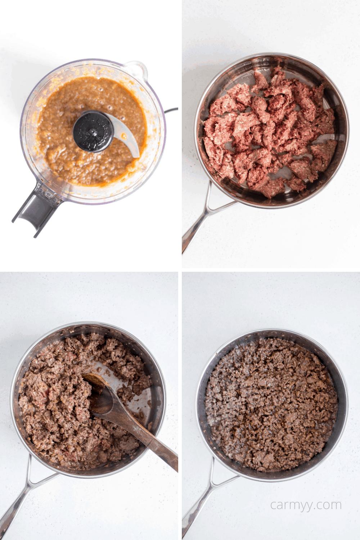 making la galbi inspired beef