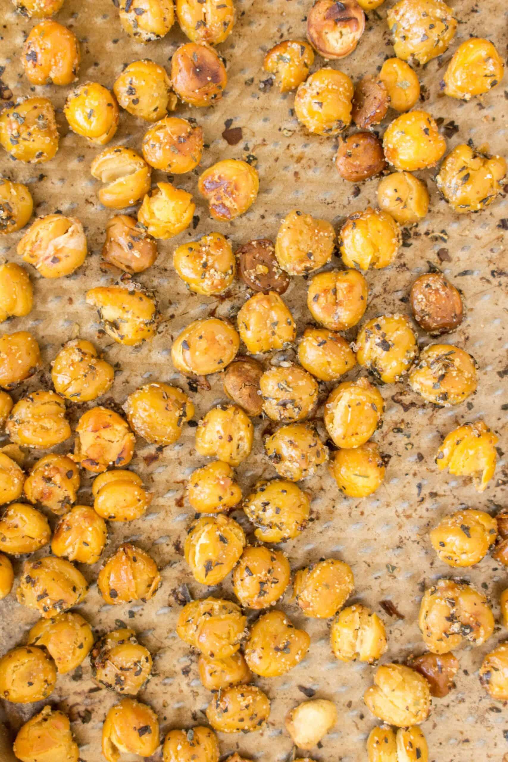 savoury herb roasted chickpeas