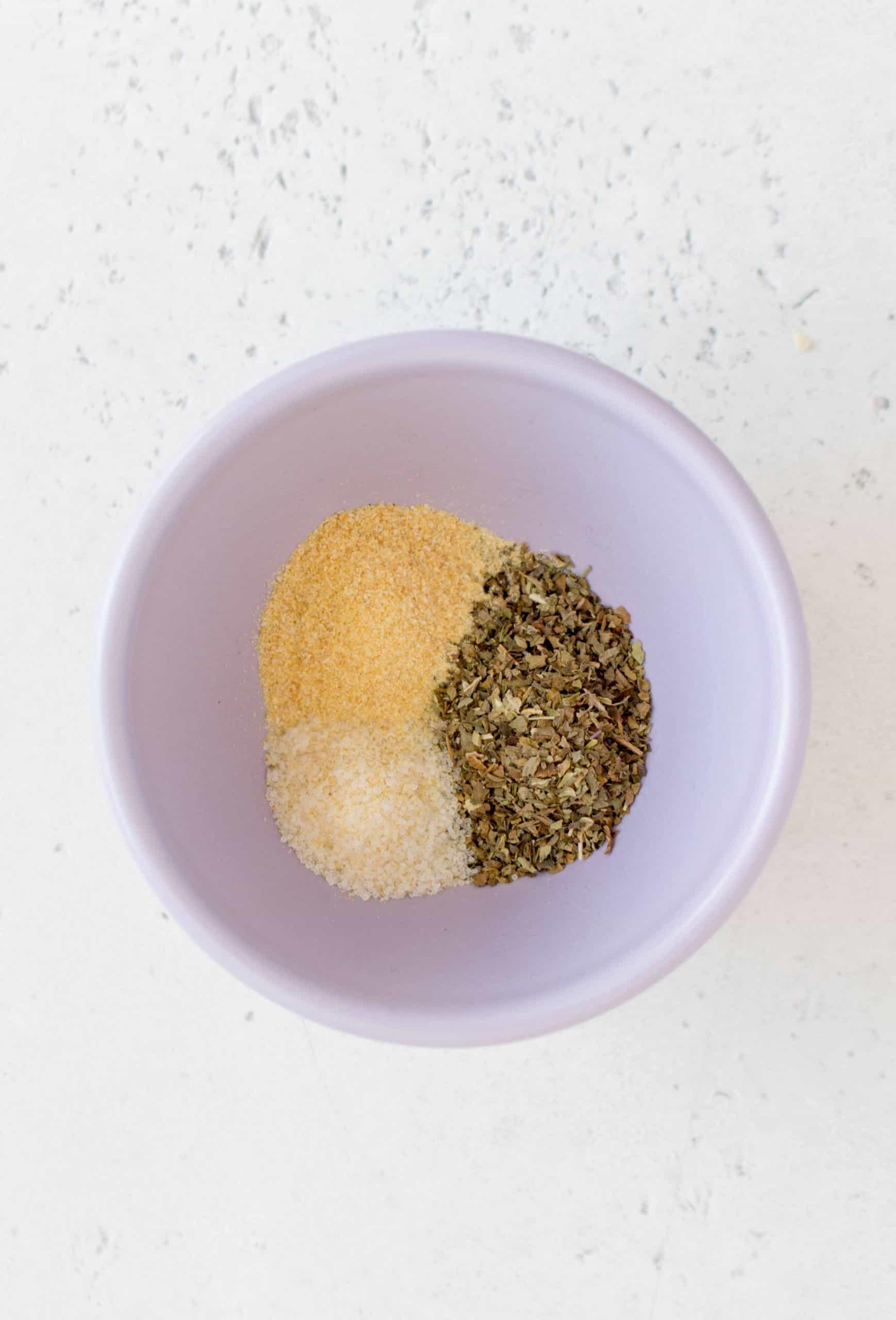 dried basil, garlic powder, and onion salt