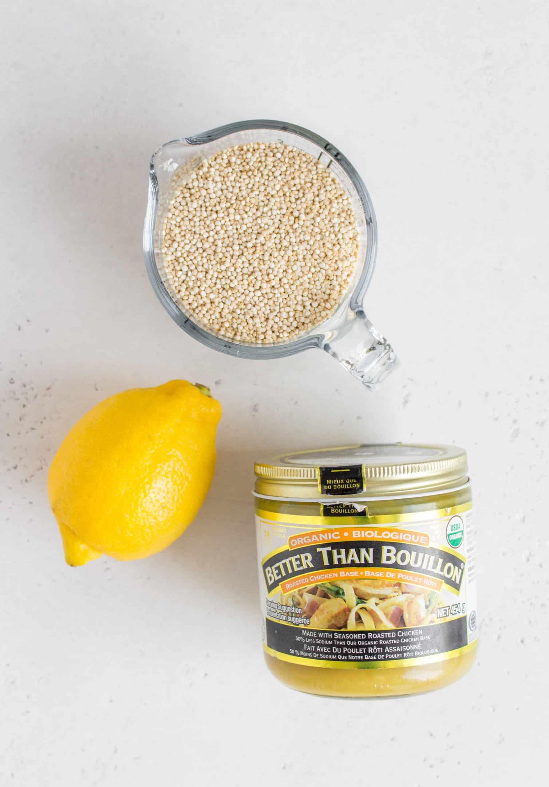 quinoa, lemon, chicken stock