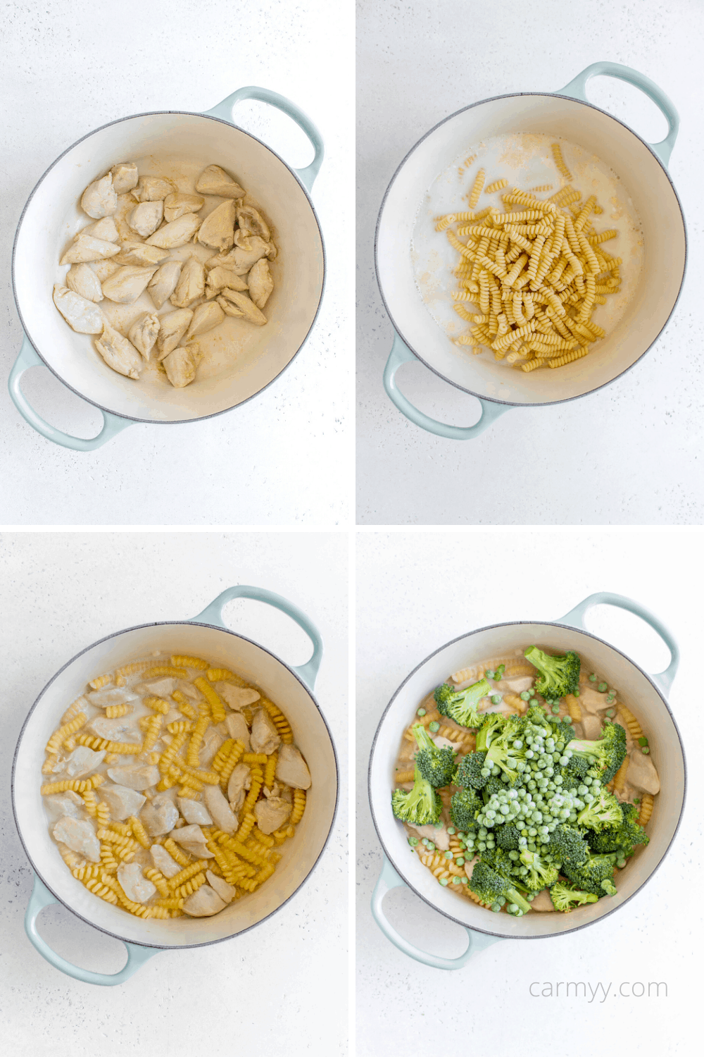 step by step instructional photos of how to make pasta