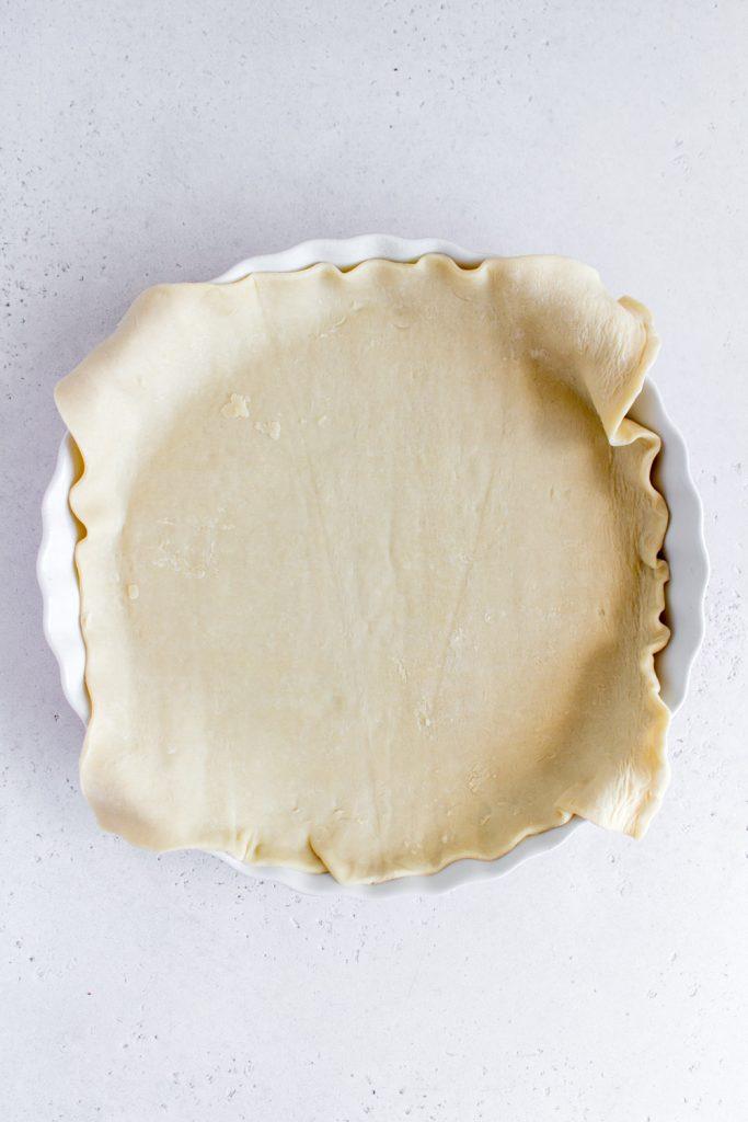 puff pastry crust in pie dish