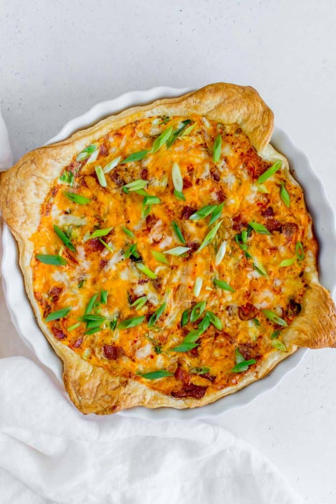 quiche made with puff pastry