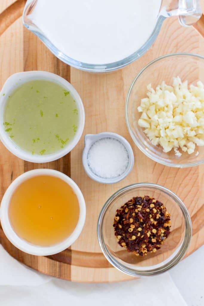 ingredients of marinade