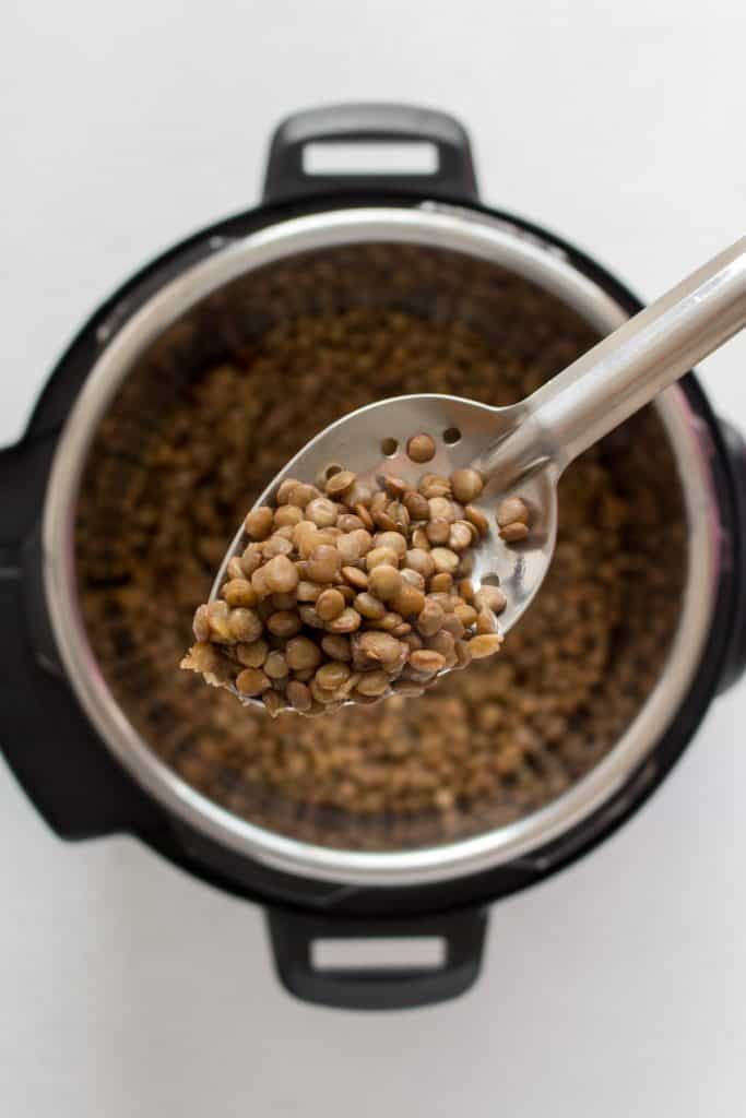 spoonful of lentils