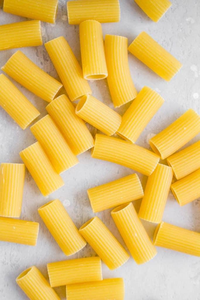 dried rigatoni pasta