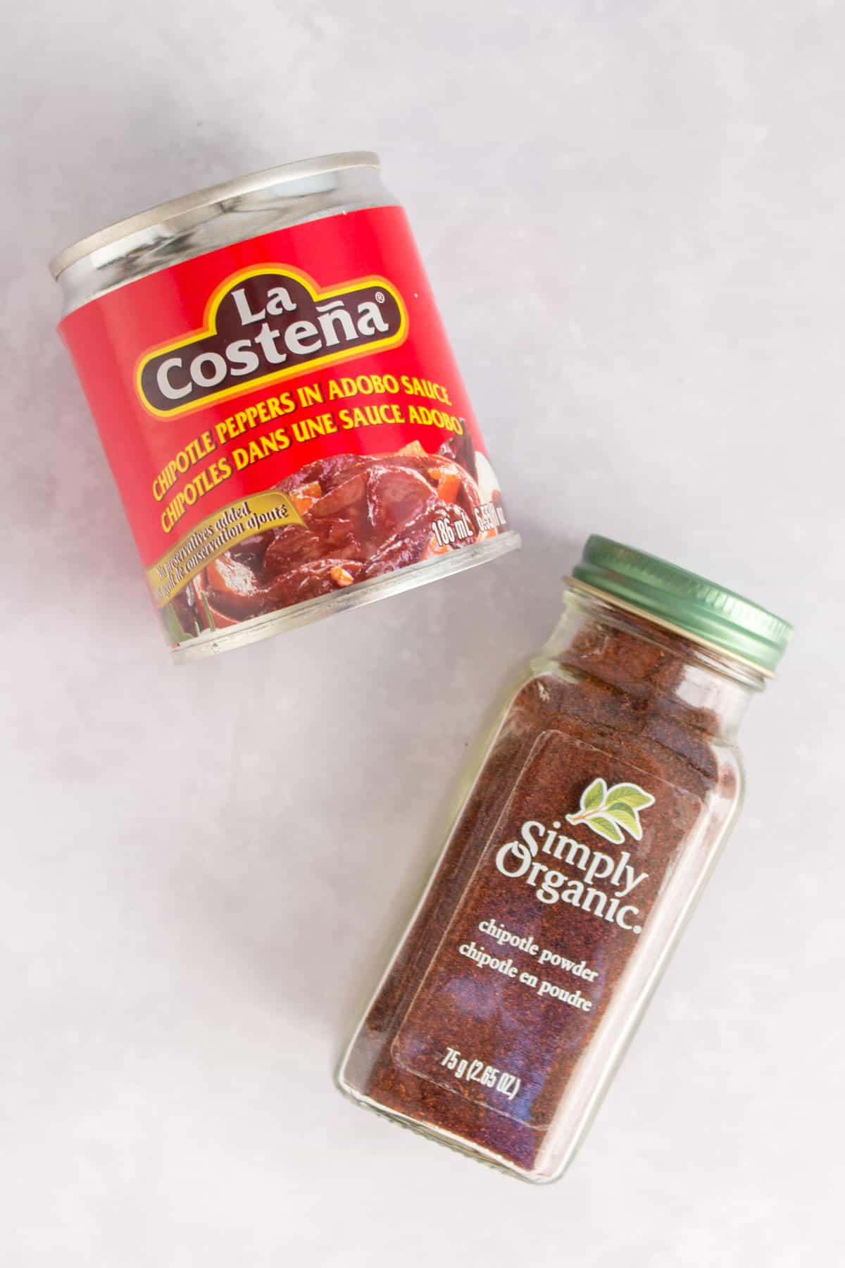 chipotle powder and chipotle peppers in adobo sauce.