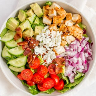 Bowl of chopped salad.