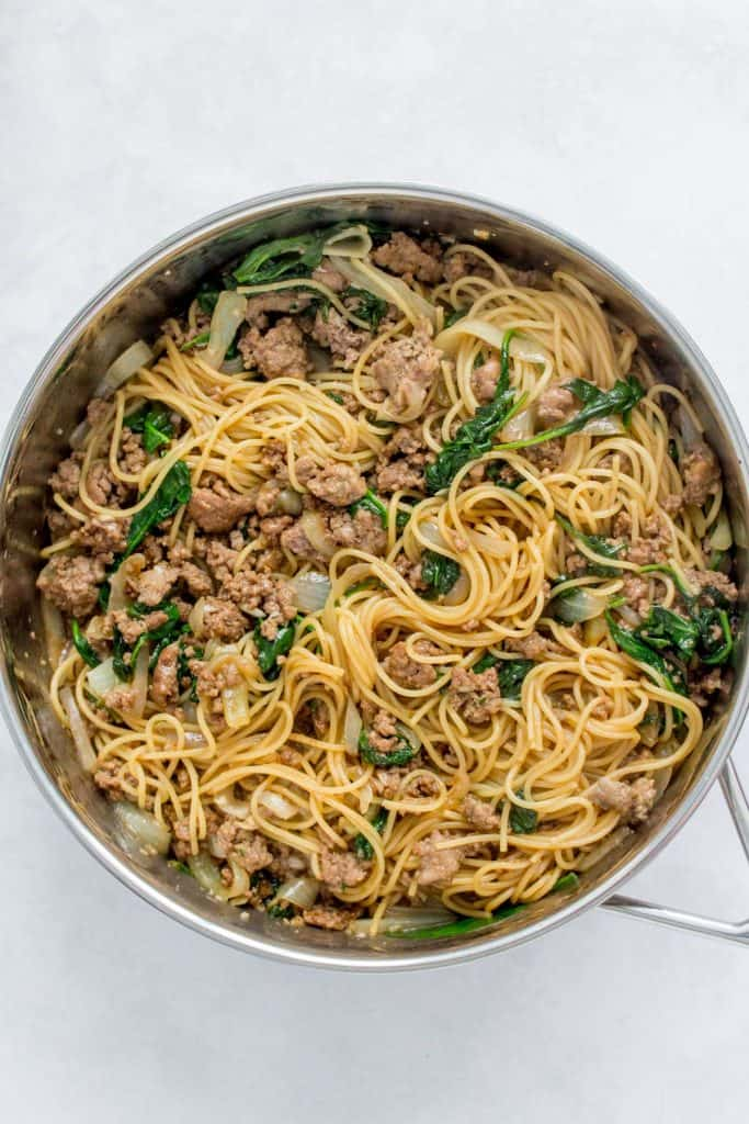 pan with beef hoisin noodles.