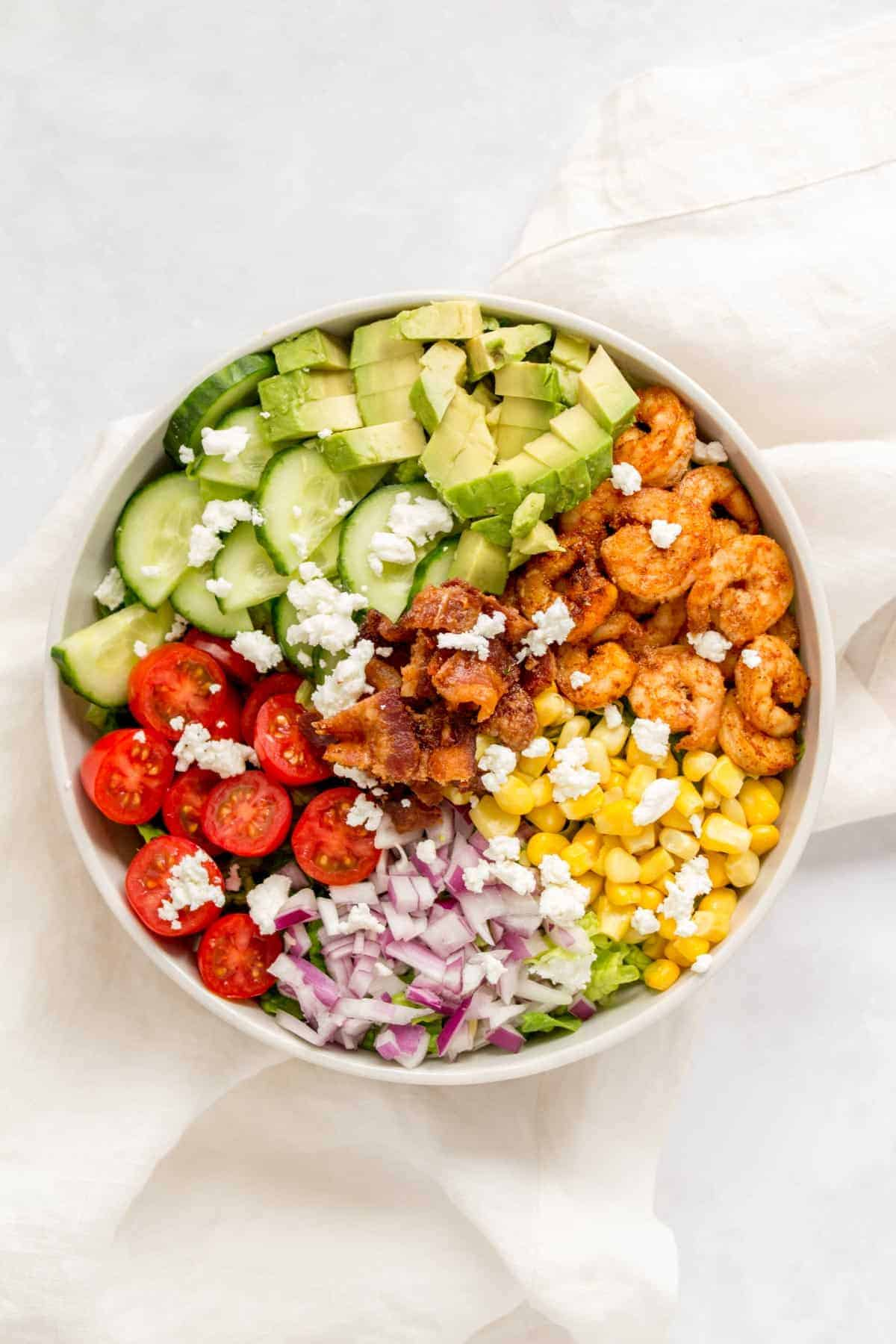Chopped Salad with Shrimp