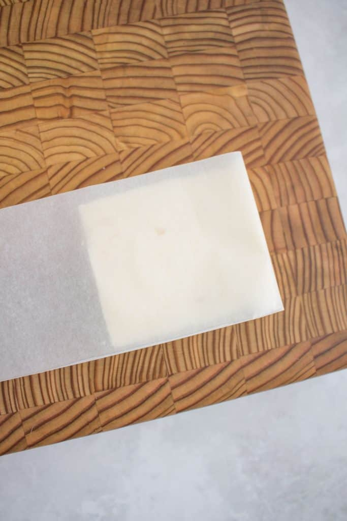 butter slice in parchment.