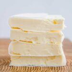 Stack of sliced butter.