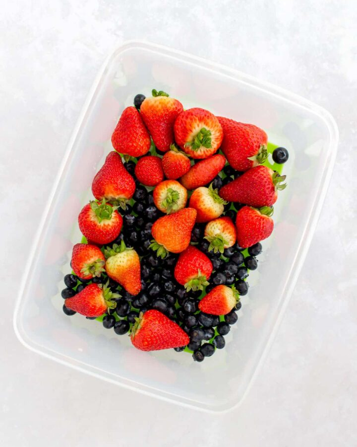 Berries in a Freshworks container.