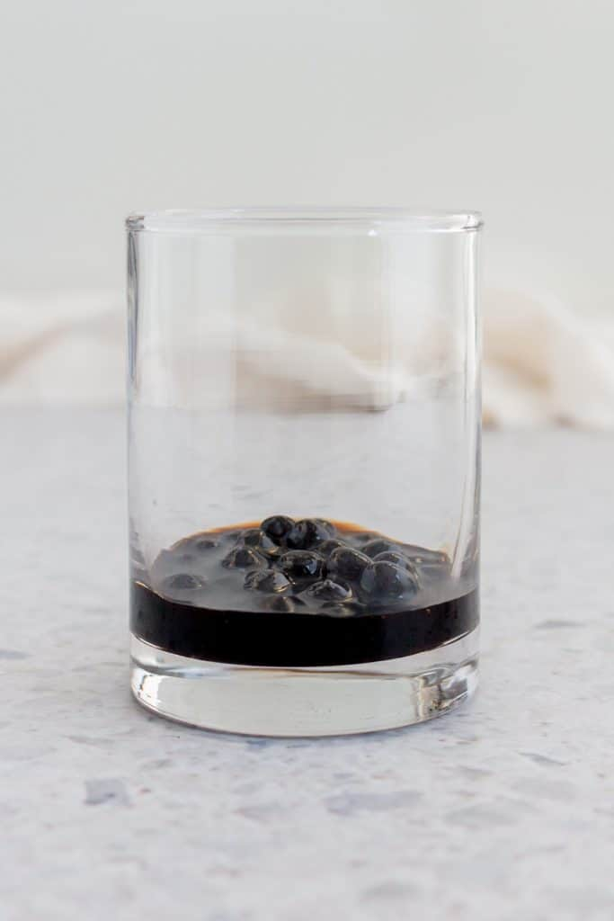 Tapioca in a cup.