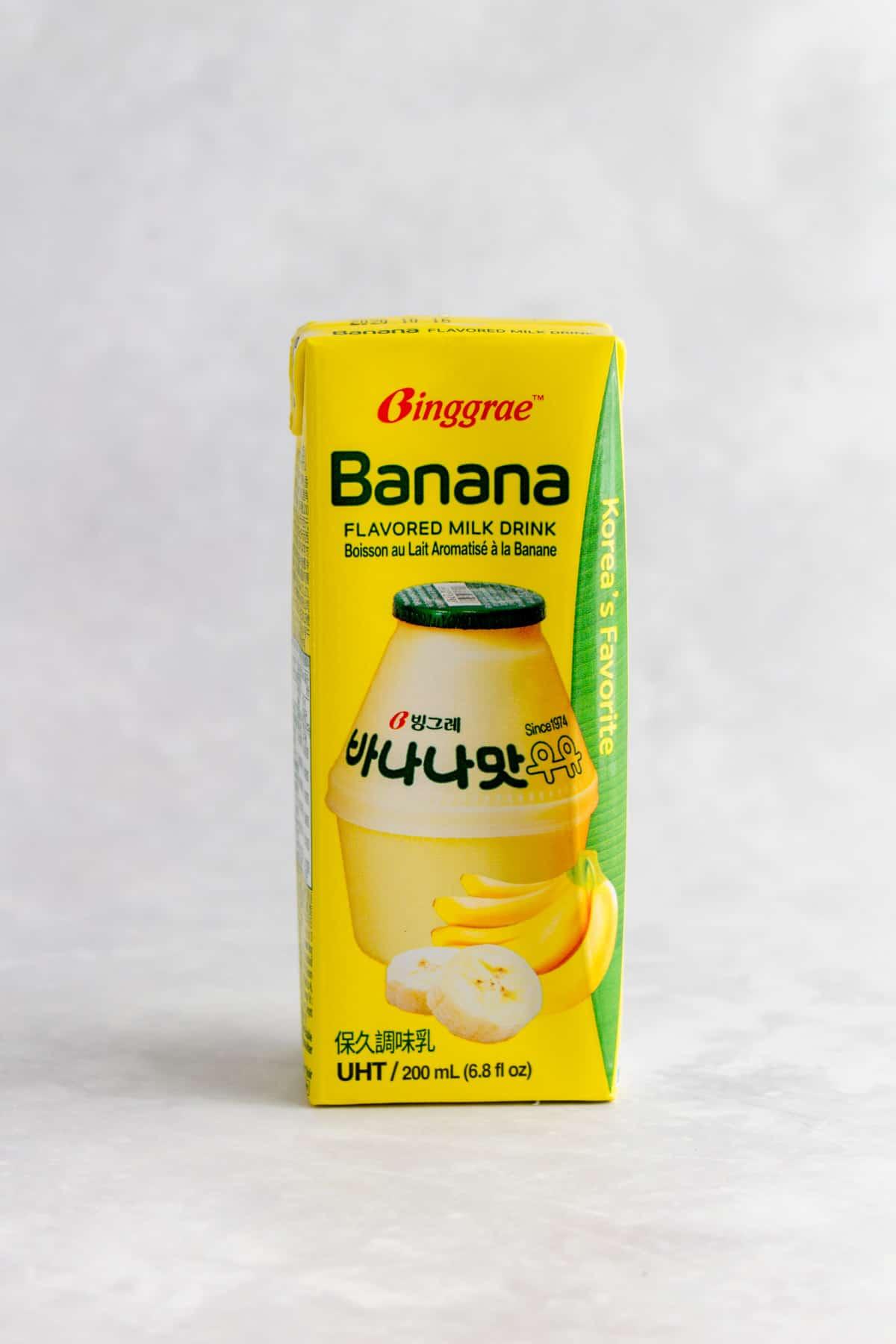 Korean banana milk.