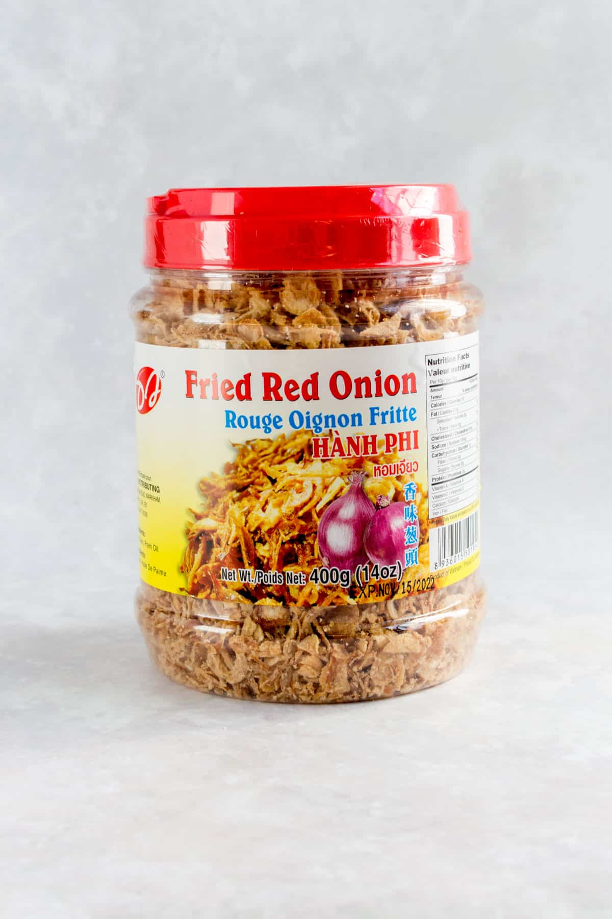 Fried red onions.