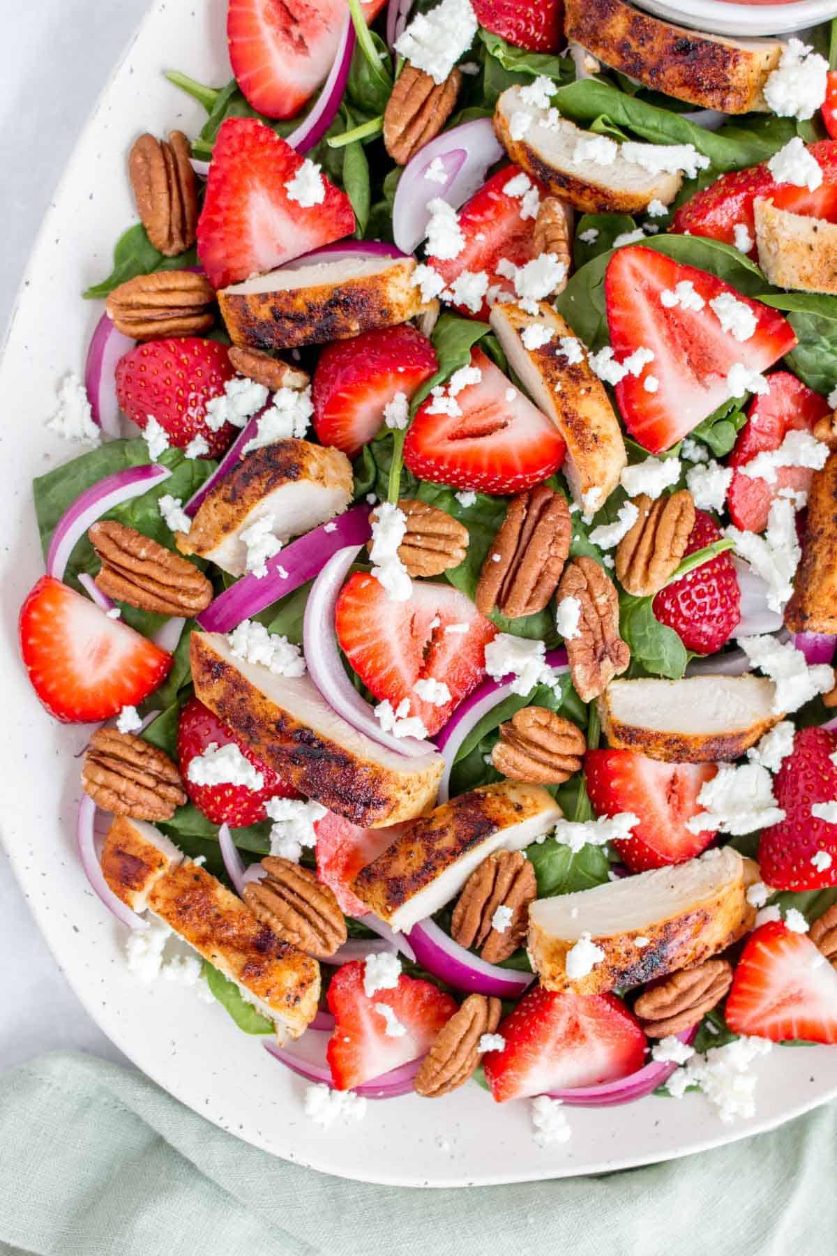 Close up of a summer salad.